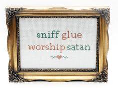 Sniff Glue Worship Satan Chart