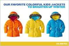 Our favorite colorful winter jackets for kids - so many great choices this year