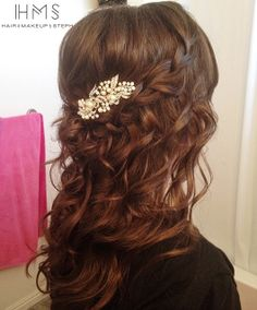 Wedding curls.