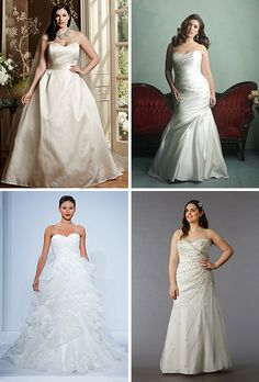 Finally! Browse dozens of styles for #plussize brides | Brides.com