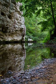 From the Flickr description: Lusk Creek-    I took a trip to Southern Illinois for the holiday weekend and while in the area, I took the opportunity to check out some new places.    This is the end of the trail if you go straight into the nature preserve. There is a trail that goes both directions, up and down stream, but, it's pretty rough this time of year!! I didn't get too far either direction. But, this spot was really nice!
