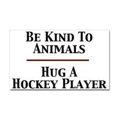 hug a hockey player