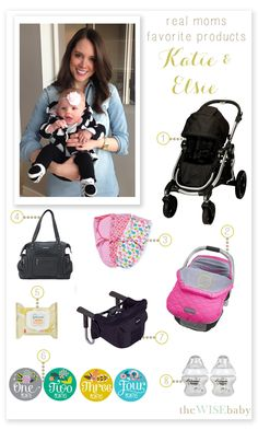 Real Moms Favorite Baby Products - Katie & Elsie - a baby gear minimalist mom shares her favorite products!