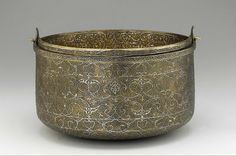 Bucket | Origin:  Venice,  Italy | Period: mid-16th century | Details:  Not Available | Type: Bronze inlaid with sliver | Size: H: 32.2  W: ...