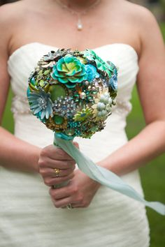 Custom Modern Jewelry Heirloom Bouquet