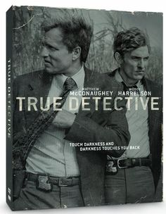 TRUE DETECTIVE SEASON 1. Louisiana dectectives Rust Cohle and Martin Hart are brought in to revisit a homicide case they worked in 1995. As the inquiry unfolds in present day through separate interrogations, the two former detectives narrate the story of their investigation, reopening unhealed wounds, and drawing into question a solved ritualistic murder in 1995.  http://highlandpark.bibliocommons.com/search?utf8=%E2%9C%93&t=smart&search_category=keyword&q=PIZZOLATTO&commit=Search&formats=DVD