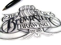 Brownstone Brewing logo concept by Martin Schmetzer.    http://martinschmetzer.com/