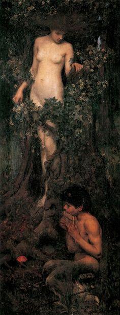 John William Waterhouse. A Hamadryad (1893).