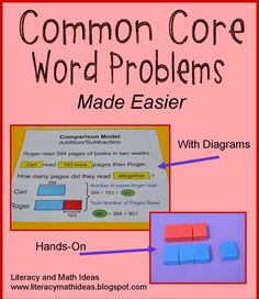 Easy Ways To Teach Common Core Word Problems