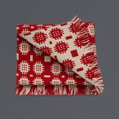 Welsh Floor Rug - Red