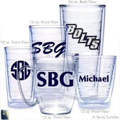 Tampa Bolts Personalized Tervis Tumblers