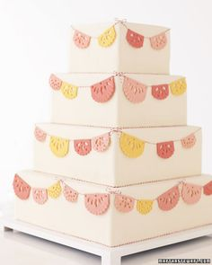 Picado bunting cake