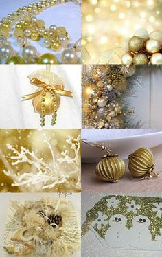 gold Christmas decorations | gold Christmas tree and ornaments | glitter Christmas decorating ideas