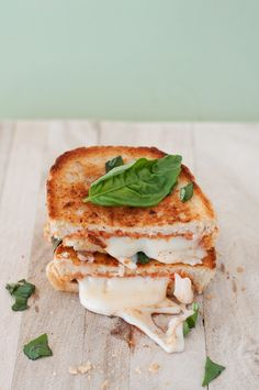 """The margherita"" pizza grilled cheese."