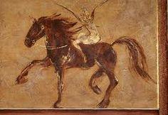 woman horse