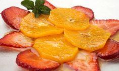 Carpaccio de naranja y fresa - para el entretenimiento o bocadillos ...