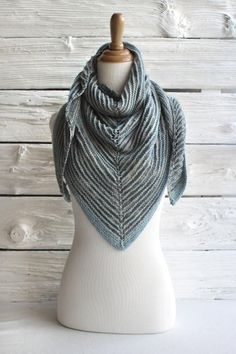Shadow Shawl by Antonia Shankland - via @Craftsy