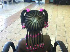 Lil girl braids
