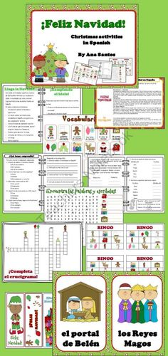 ¡FELIZ NAVIDAD!Christmas activities in Spanish from Languages Corner on TeachersNotebook.com (21 pages)  - ¡FELIZ NAVIDAD!Christmas activities in Spanish