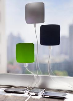 Solar window iPod chargers.