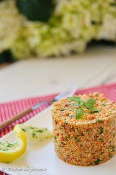 """""""Cuscus"""" raw vegan din legume"""