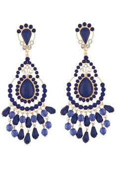 bling, stone earring, style, accessori, blue