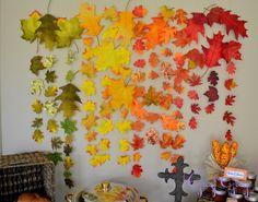 Beautiful fall leaf backdrop