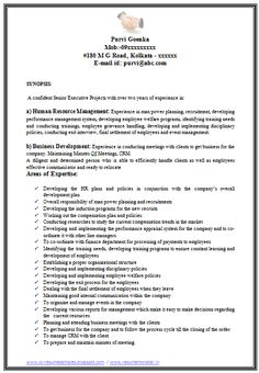 of an excellent mba human resource hr experienced resume sample