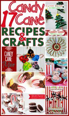 Candy Cane Crafts and Recipes | MomOnTimeout.com #Christmas #crafts #recipes