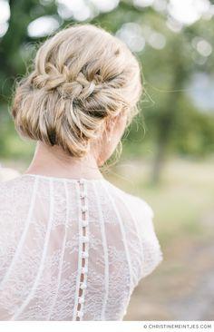 Wedding hair inspiration // Photo by Christine Meintjes