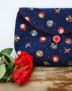 Two way clutch: Japanese fabric clutch