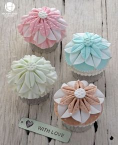 Cupcakes made for a friend who loves crafting and growing Dahlias.