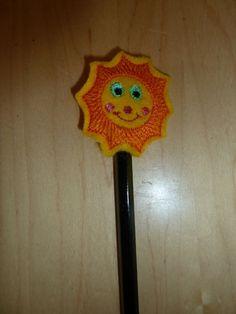 Pencil topper Sun