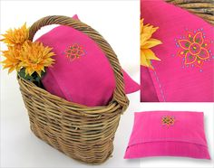 Hand Embroidered Pillow Cover: Guest Tutorial with Amy Barickman | Sew4Home