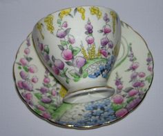 EB Foley Bone China Cup and Saucer Spring Flowers