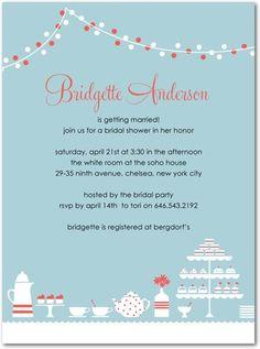 very cute bridal shower invite
