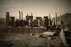 Palace of Darius Persepolis,actual Iran 520-510 BC