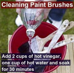 Here's a reminder for those of you that might be doing a little sprucing up! This also works well if you accidentally let latex paint dry in a brush and want to save the brush ~Budget101  http://www.budget101.com/frugal/household-tips-n-tricks-204/
