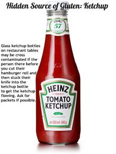 Day 21: Hidden Source of Gluten: Ketchup Bottles #celiac #crosscontamination #glutenfree