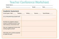 5 keys to a great parent teacher conference