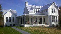 modern farmhouse, white houses, custom homes, marshal custom, john marshal, farmhouse style, wrap around porches, front porches, farm houses