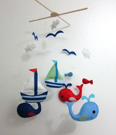 Baby Crib Mobile...whales!!!