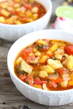 Vegetable Lime Chickpea Chili: This chili can be made in about 30 minutes, which makes it perfect for a weeknight meal