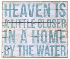 Home By The Water Box Sign