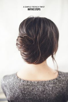 A simple French twist in 5 steps - stylemepretty.com