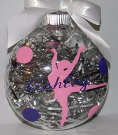 Personalized Ornament  Christams Dance Ballerina Team teacher Gift- Any Custom Color via Etsy