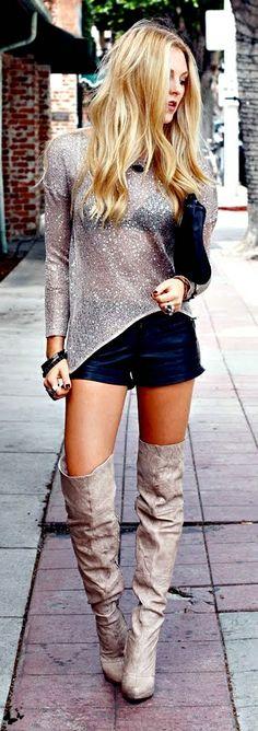 shorts and boots
