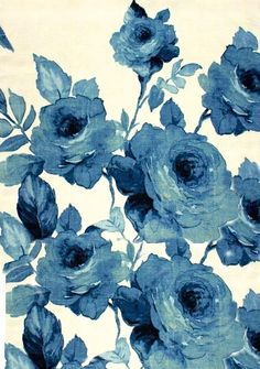 blue flowers, flower prints, watercolor flowers, vintage roses, tattoo, blues, floral, flower patterns, blue roses