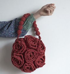 rose, crochet bags, bag crochetbag