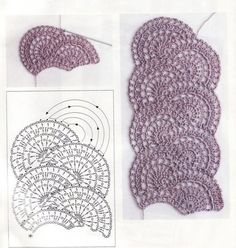 Awesome fan-shaped crochet scarf